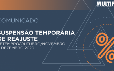 Suspensão temporária de reajuste – Setembro/Outubro/Novembro e Dezembro 2020.